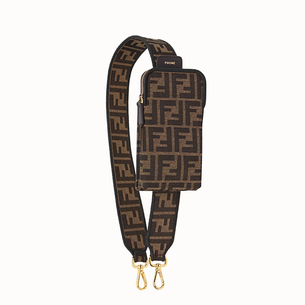 FENDI STRAP YOU - Brown fabric shoulder strap - view 1 small thumbnail