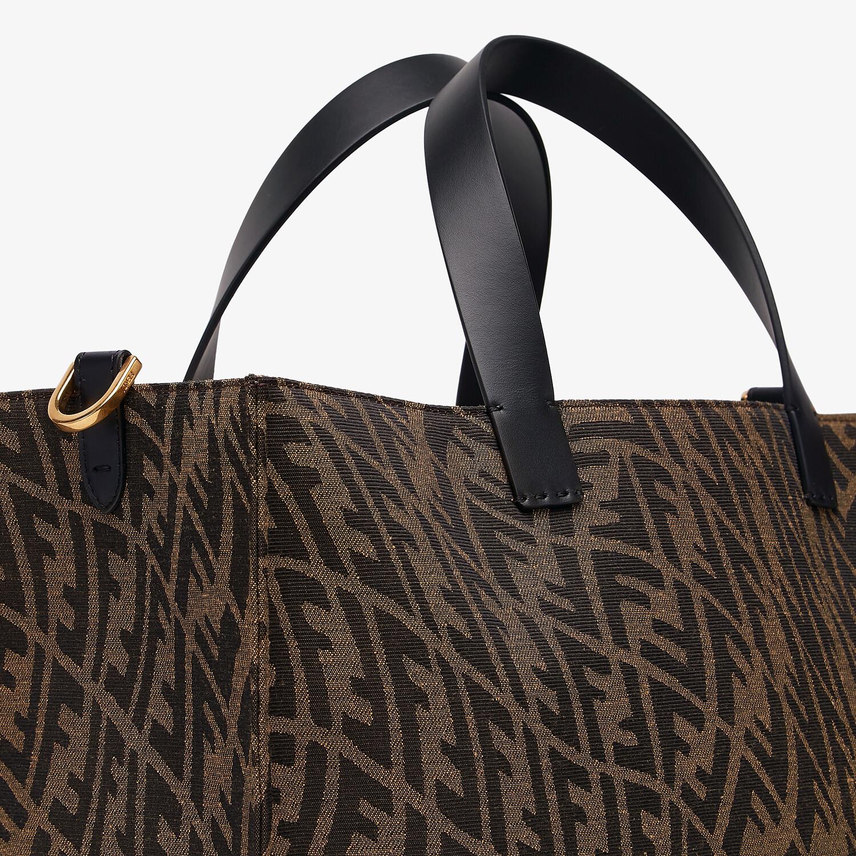 FENDI SHOPPER - Brown jacquard FF Vertigo bag - view 6 detail