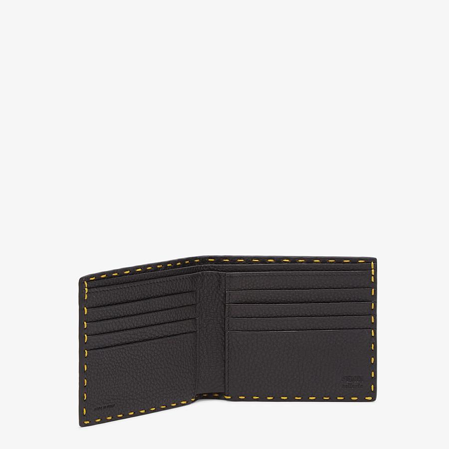 FENDI WALLET - Yellow leather bi-fold wallet - view 3 detail