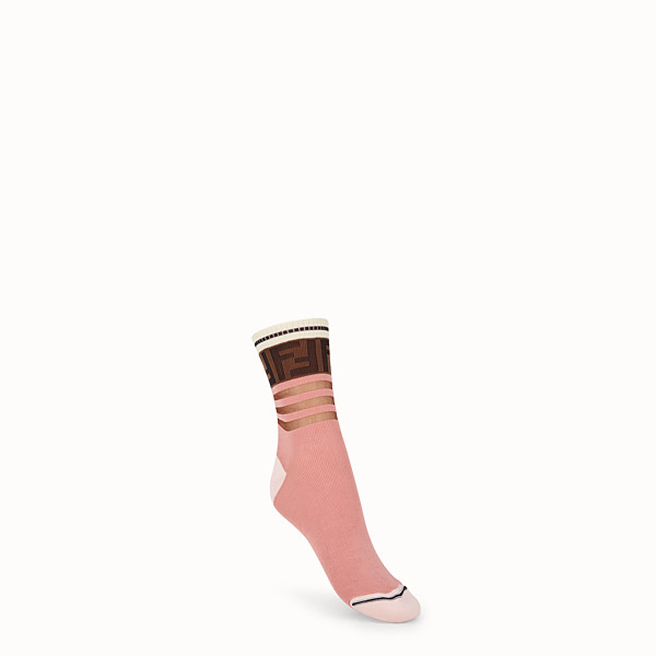 FENDI SOCKS - Multicolor cotton socks - view 1 small thumbnail