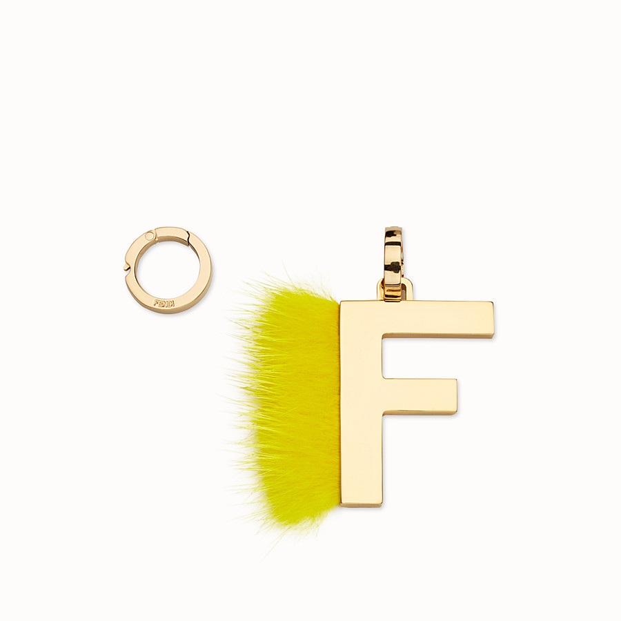 FENDI ABCLICK F - Pendant with fluorescent yellow fur - view 1 detail