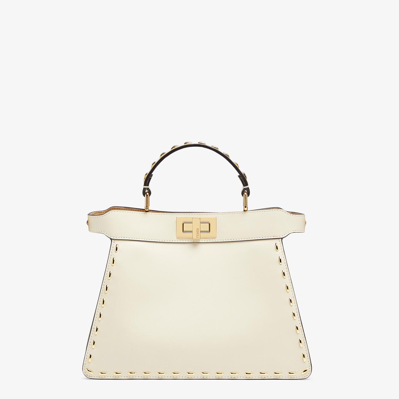 FENDI PEEKABOO ISEEU SMALL - White leather bag - view 1 detail