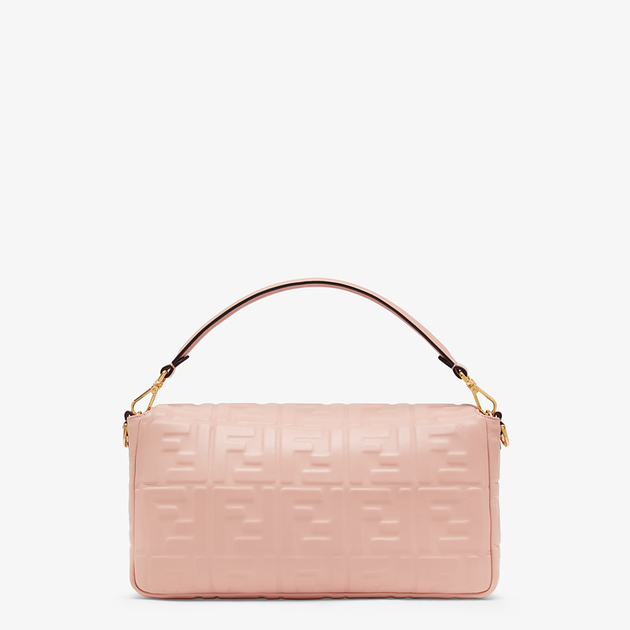 FENDI BAGUETTE LARGE - Pink nappa leather bag - view 4 detail