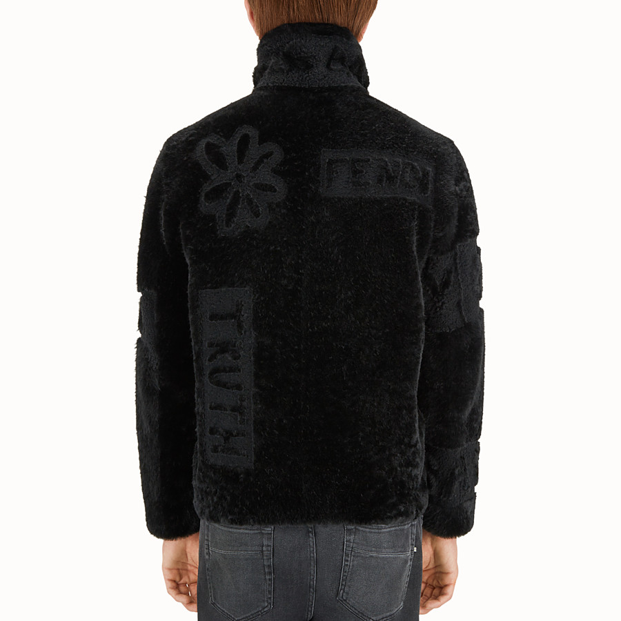 FENDI SHEARLING - Blouson in black shearling. - view 2 detail