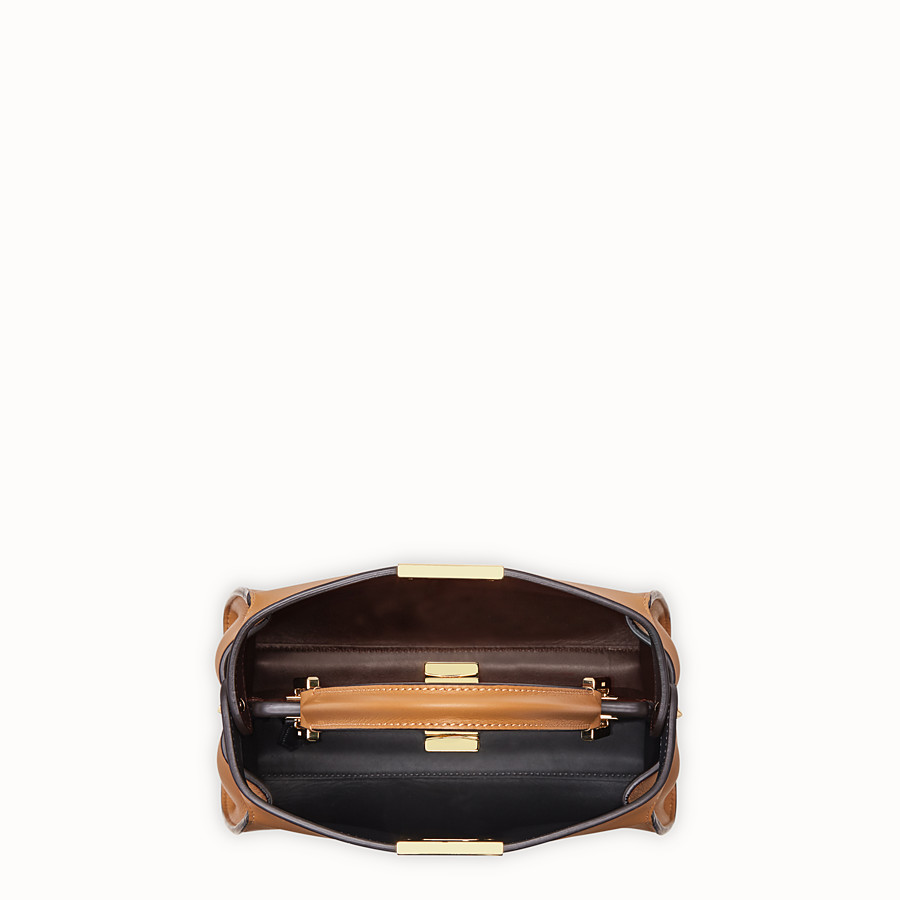 FENDI PEEKABOO ESSENTIALLY - Brown leather bag - view 4 detail