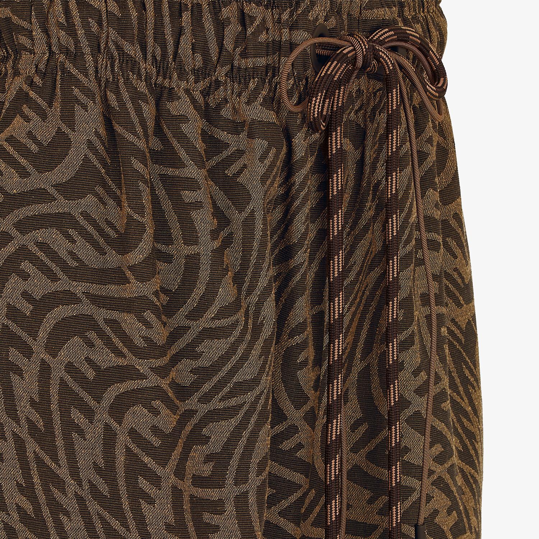 FENDI PANTS - Brown canvas pants - view 3 detail