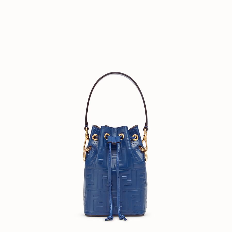 2b6d66fce0b5 Blue leather mini-bag - MON TRESOR