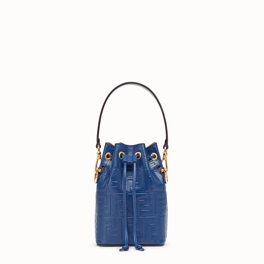 FENDI MON TRESOR - Blue leather mini-bag - view 1 detail