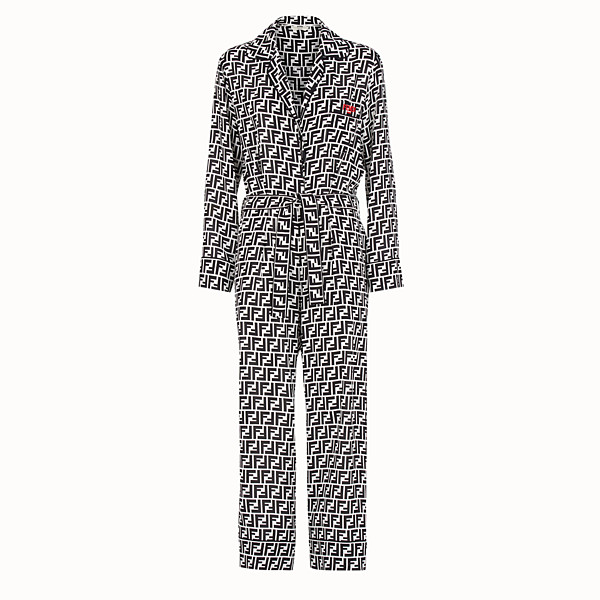 FENDI JUMPSUIT - Multicolour silk jumpsuit - view 1 small thumbnail
