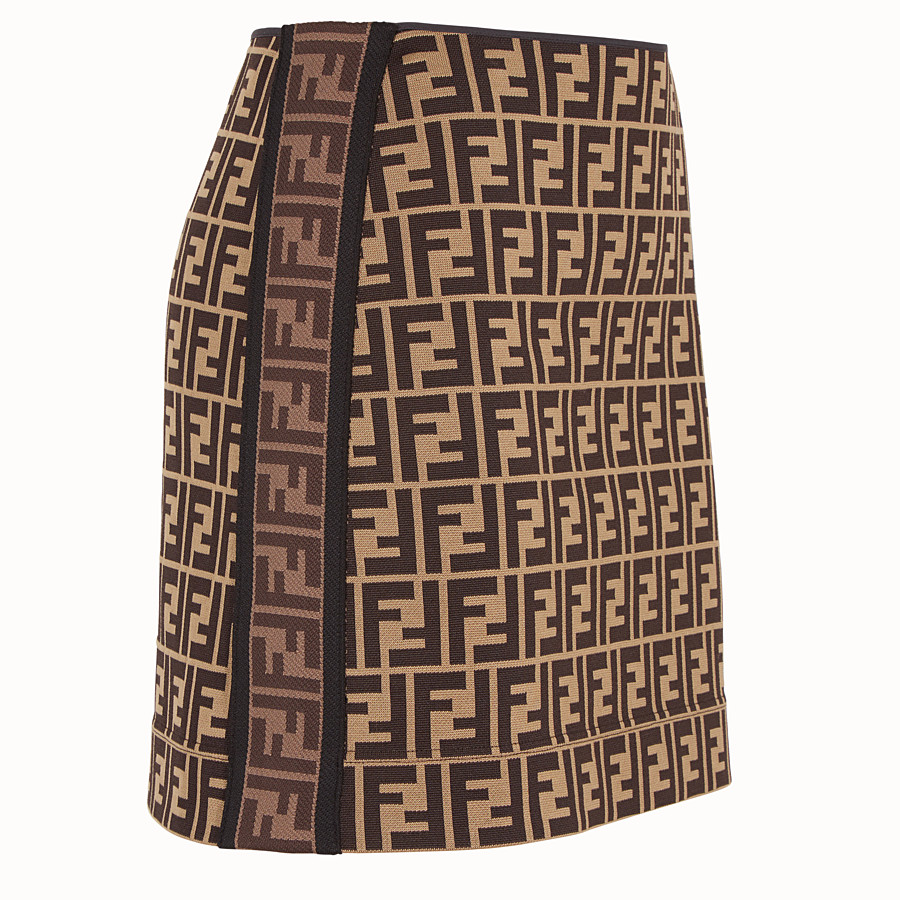 FENDI SKIRT - Multicolour cotton mini skirt - view 3 detail