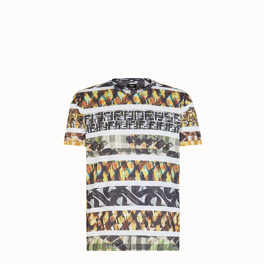 FENDI T-SHIRT - Multicolour cotton T-shirt - view 1 detail