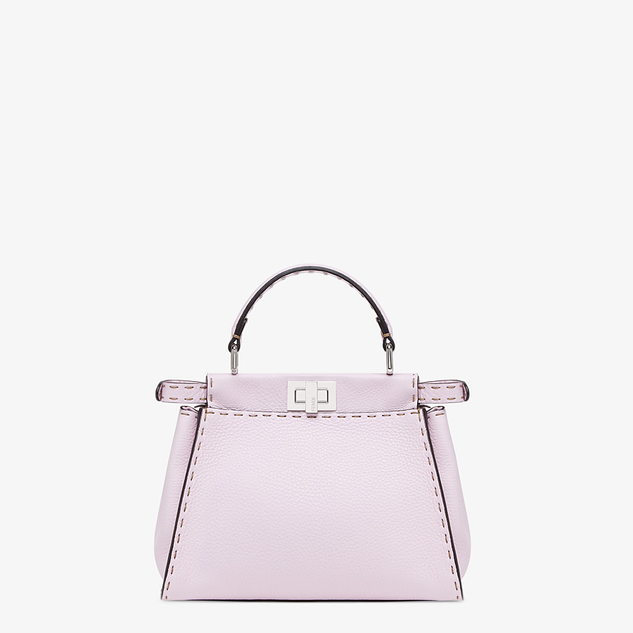 FENDI PEEKABOO ICONIC MINI - Lilac Cuoio Romano leather bag - view 4 detail