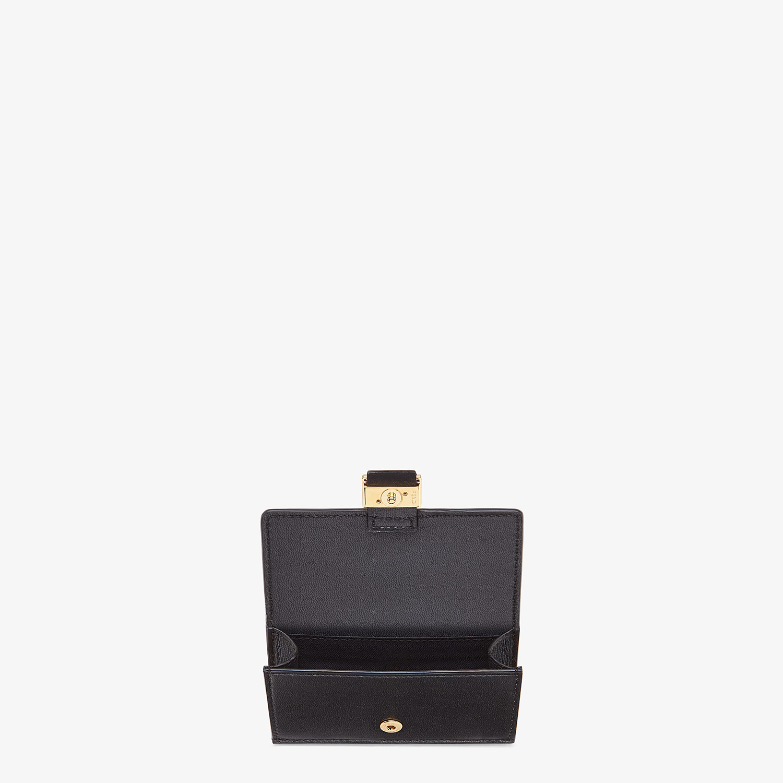 FENDI CARD HOLDER - Black nappa leather cardholder - view 3 detail