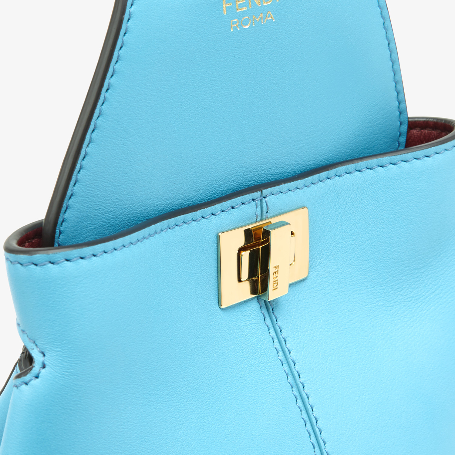 FENDI GUITAR BAG - Light blue leather mini-bag - view 6 detail