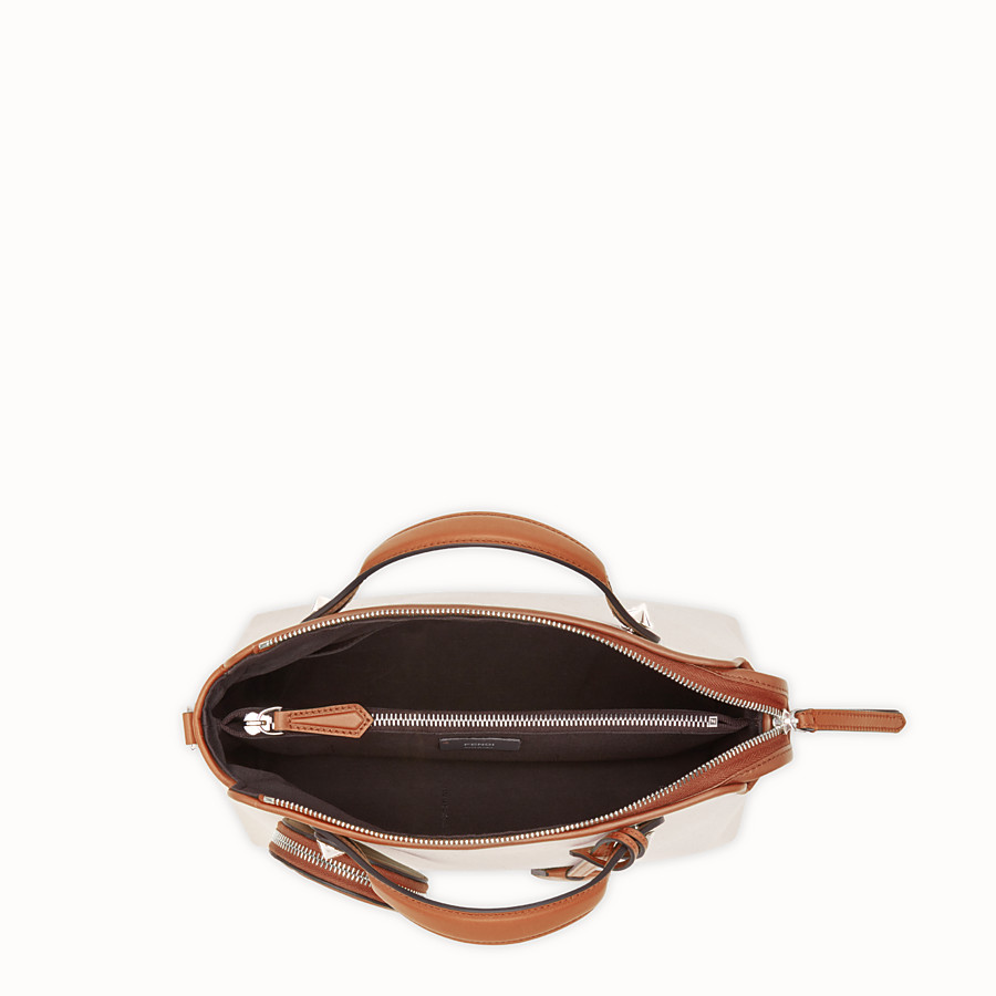 FENDI BY THE WAY REGULAR - Bolso Boston de lona beige - view 4 detail