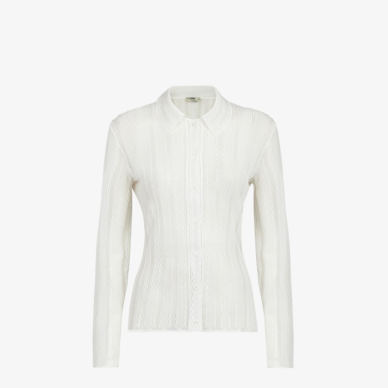 FENDI CARDIGAN - White lace cardigan - view 1 detail