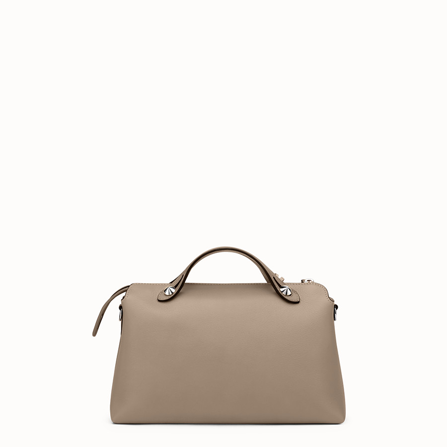 FENDI BY THE WAY REGULAR - Small Boston bag in beige leather - view 3 detail
