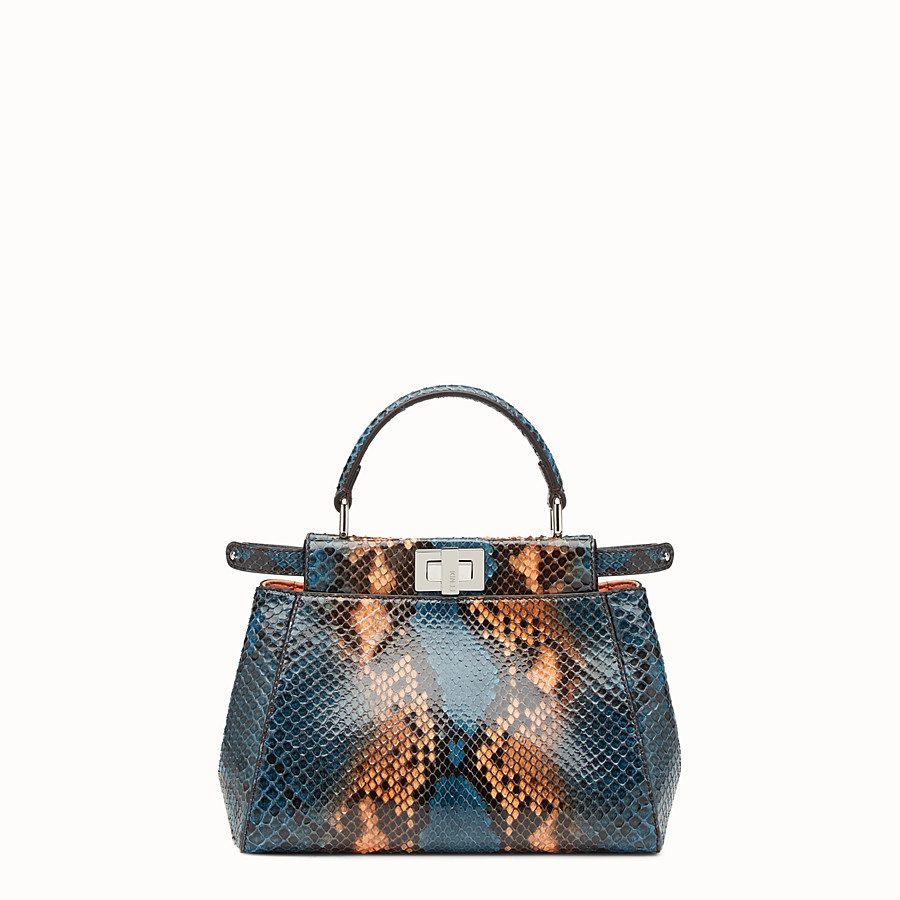 FENDI PEEKABOO MINI - Two-tone python handbag - view 1 detail