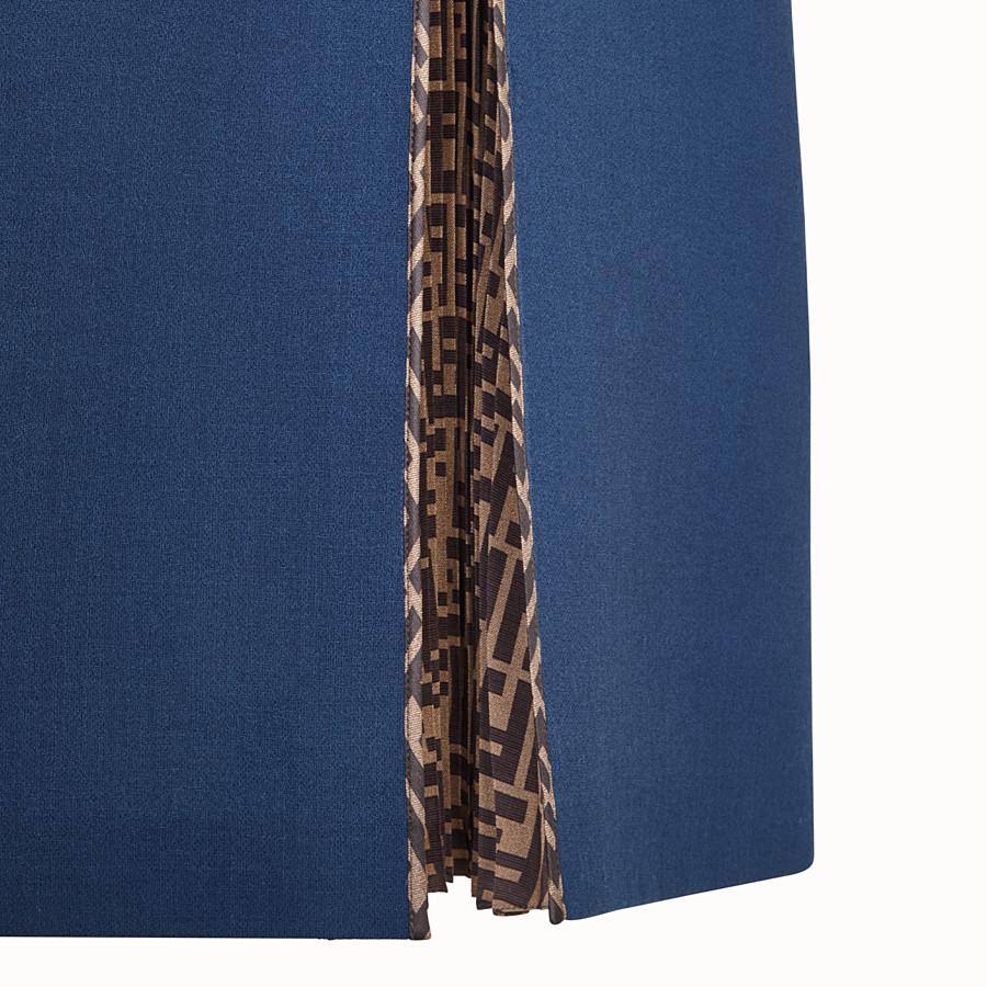 FENDI KLEID - Kleid aus Wolle in Blau - view 3 detail
