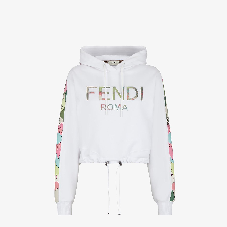 FENDI SWEATSHIRT - White jersey sweatshirt - view 1 detail