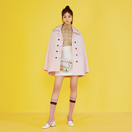 FENDI JACKET - Pink quilted crêpe de chine jacket - view 4 thumbnail