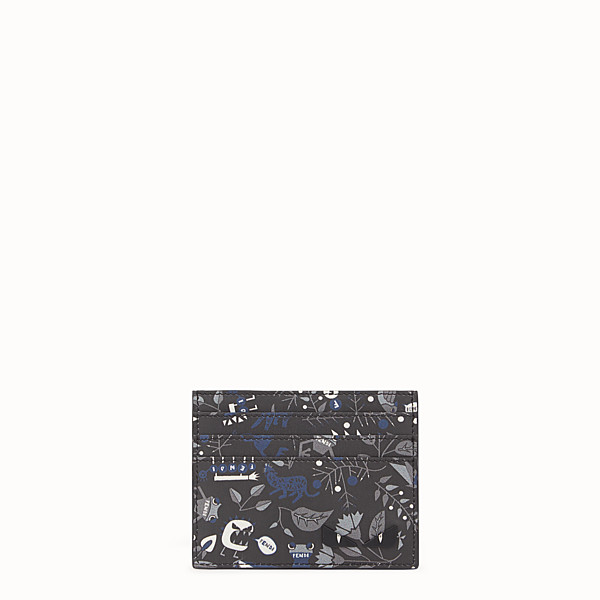 FENDI CARD HOLDER - Printed leather card holder with six slots - view 1 small thumbnail