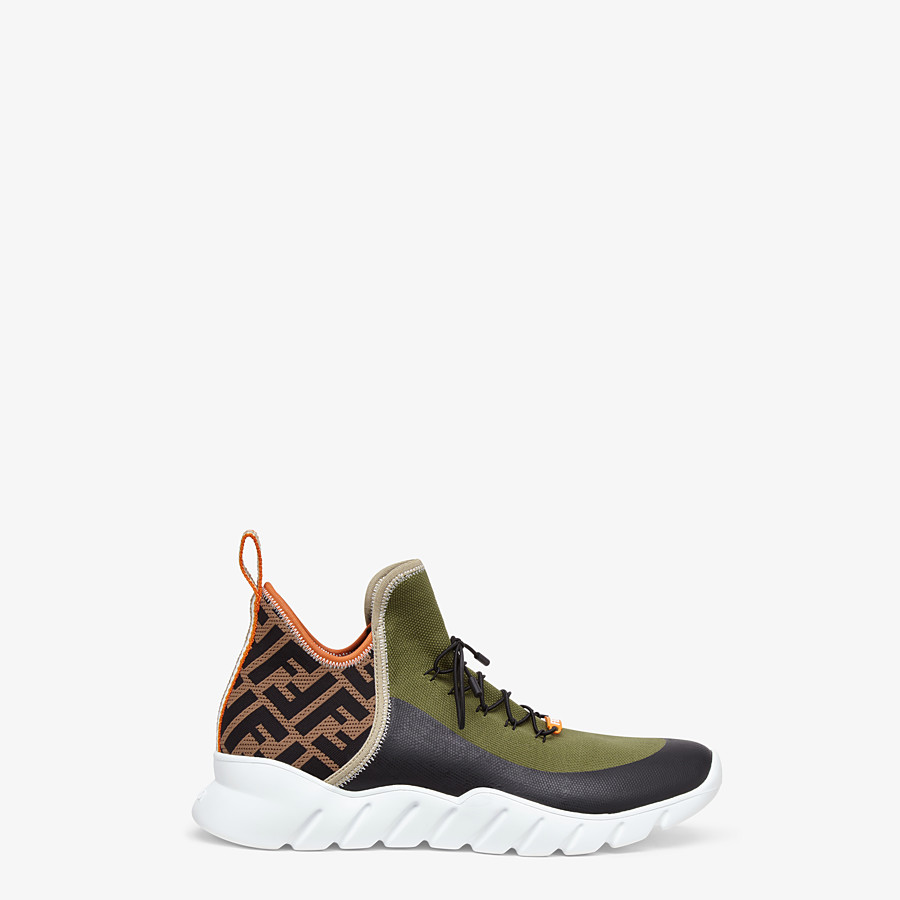 FENDI SNEAKERS - Multicolor tech knit high-tops - view 1 detail