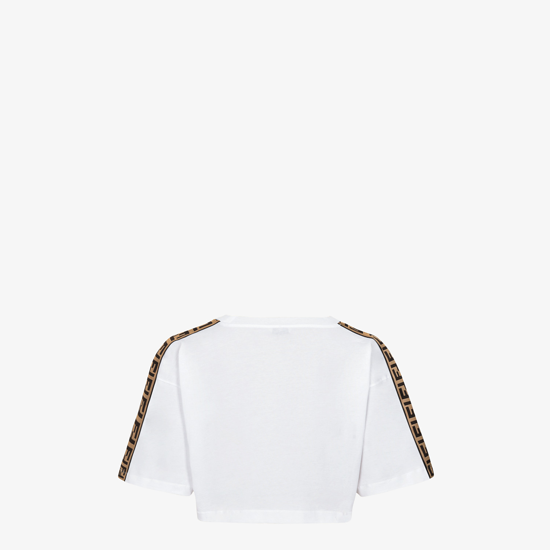 FENDI T-SHIRT - White jersey skirt - view 2 detail