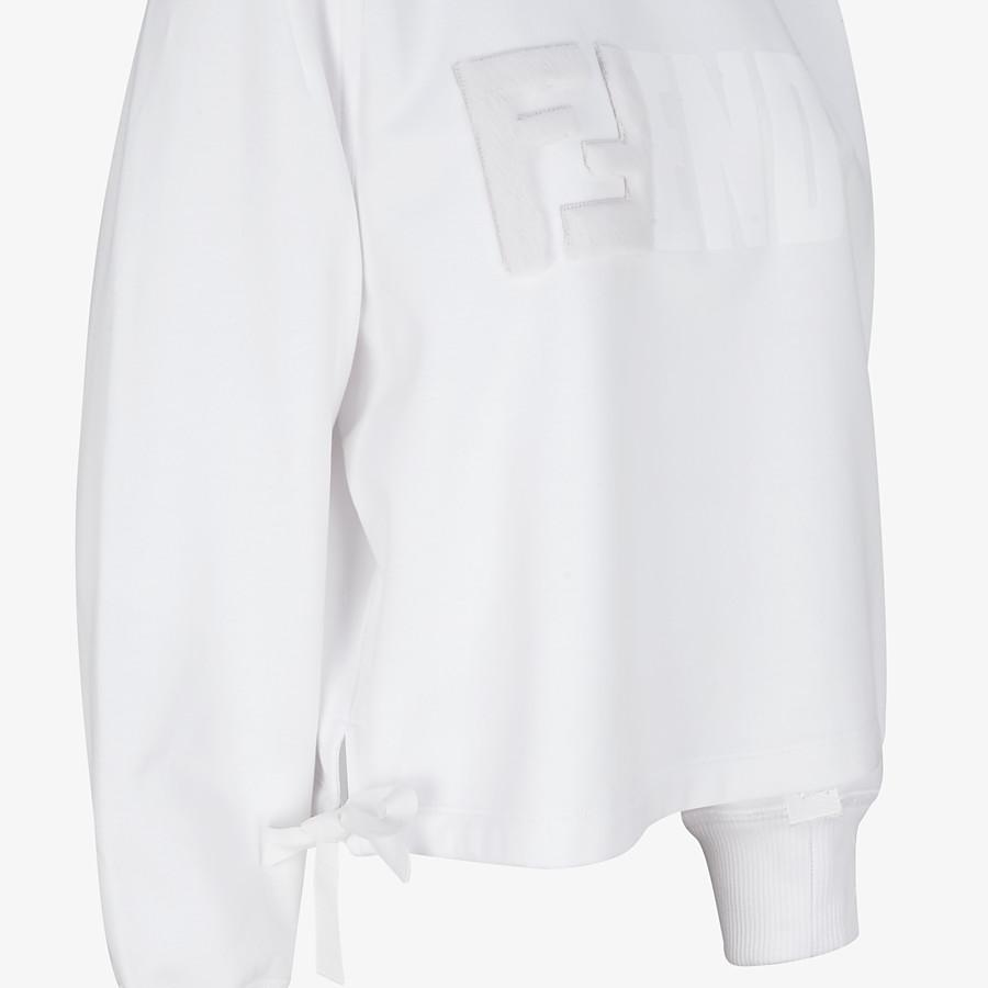 FENDI SWEATSHIRT - White cotton sweatshirt - view 3 detail