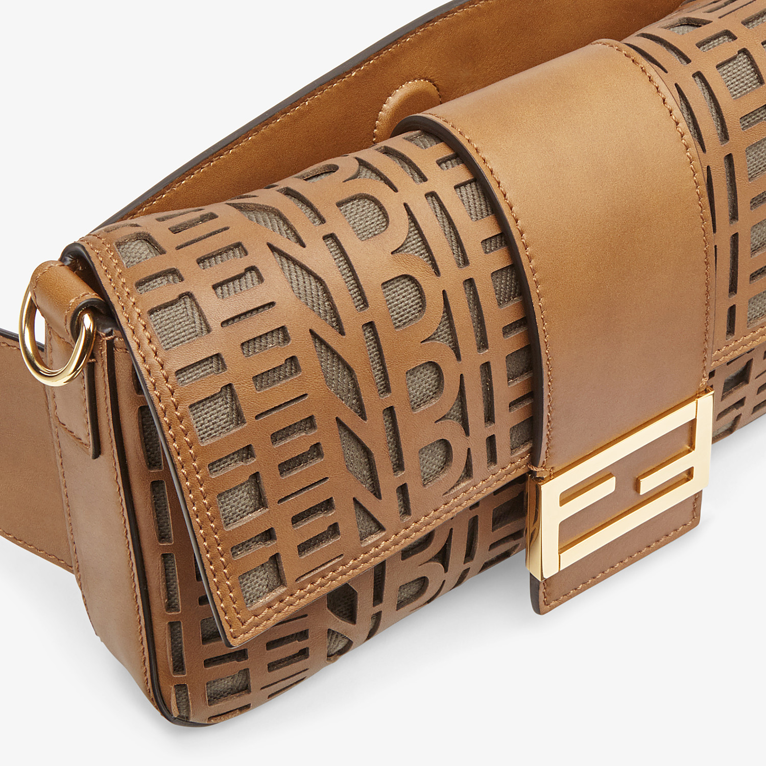 FENDI BAGUETTE - Beige leather bag - view 6 detail