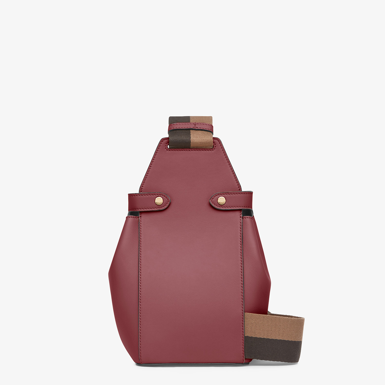 FENDI GUITAR BAG - Burgundy leather mini-bag - view 3 detail