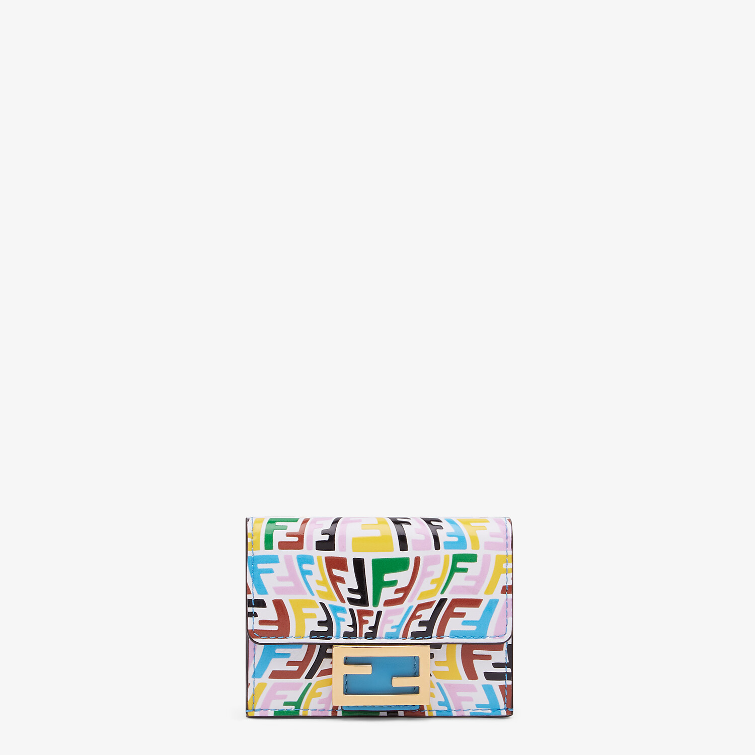 FENDI MICRO TRIFOLD - Multicolor leather wallet - view 1 detail