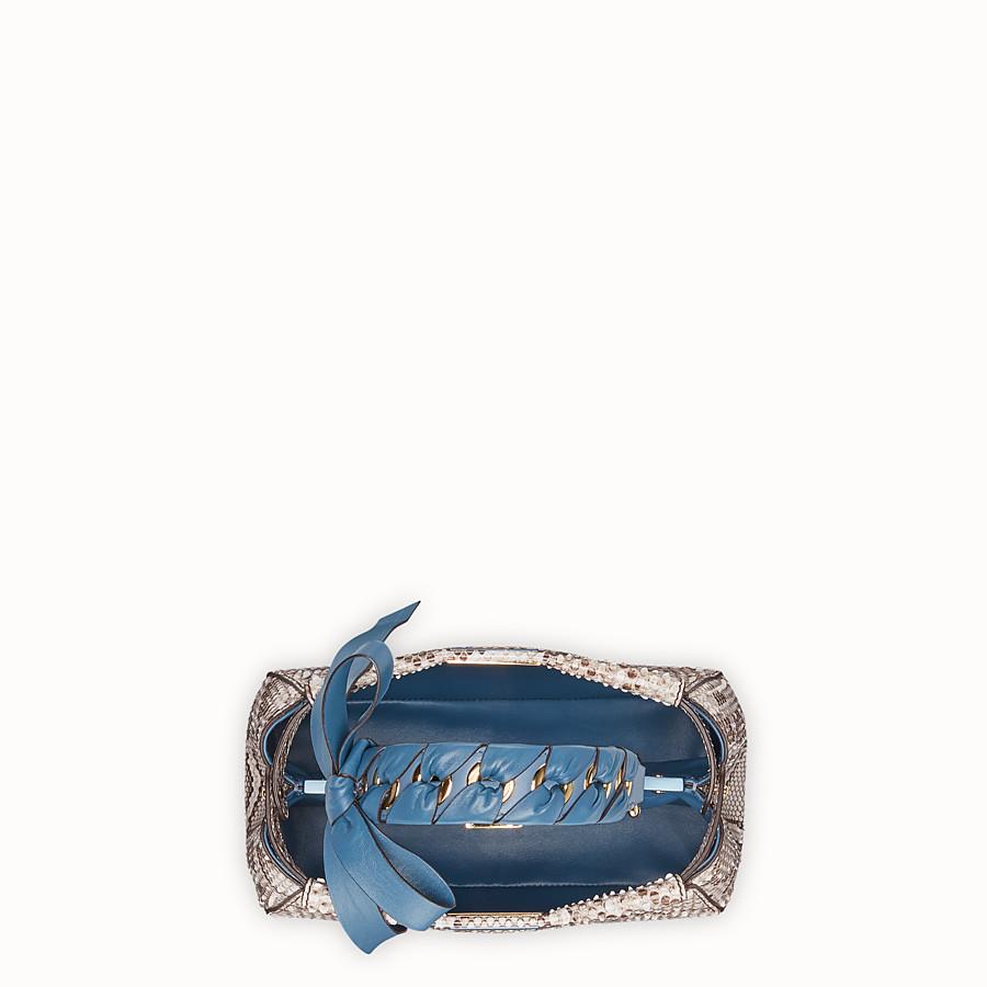 FENDI PEEKABOO MINI - Grey python bag - view 4 detail