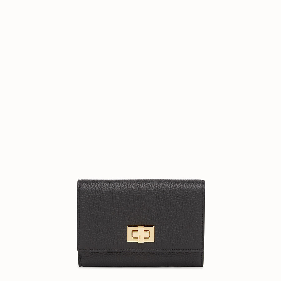 FENDI WALLET - Black leather wallet - view 1 detail