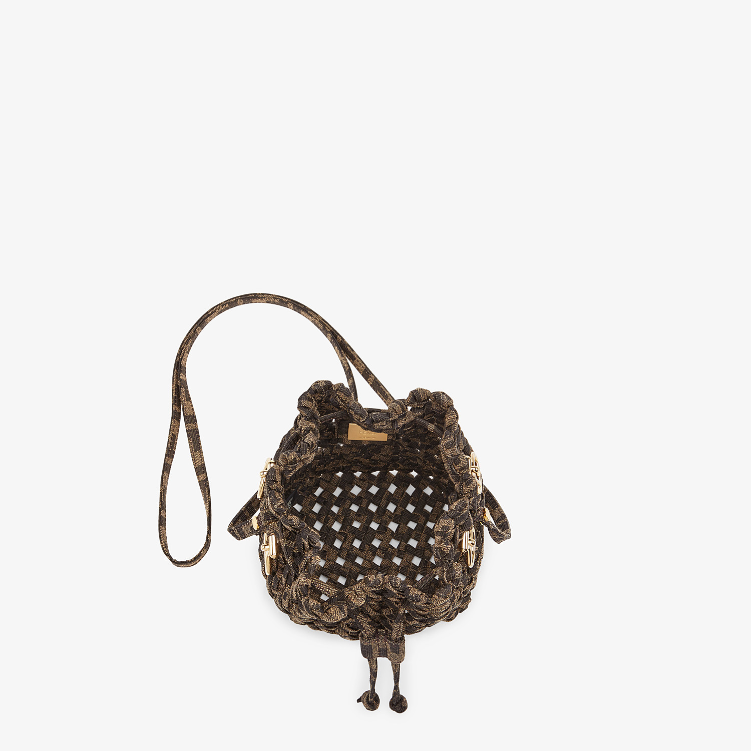 FENDI MON TRESOR - Jacquard fabric interlace mini-bag - view 5 detail