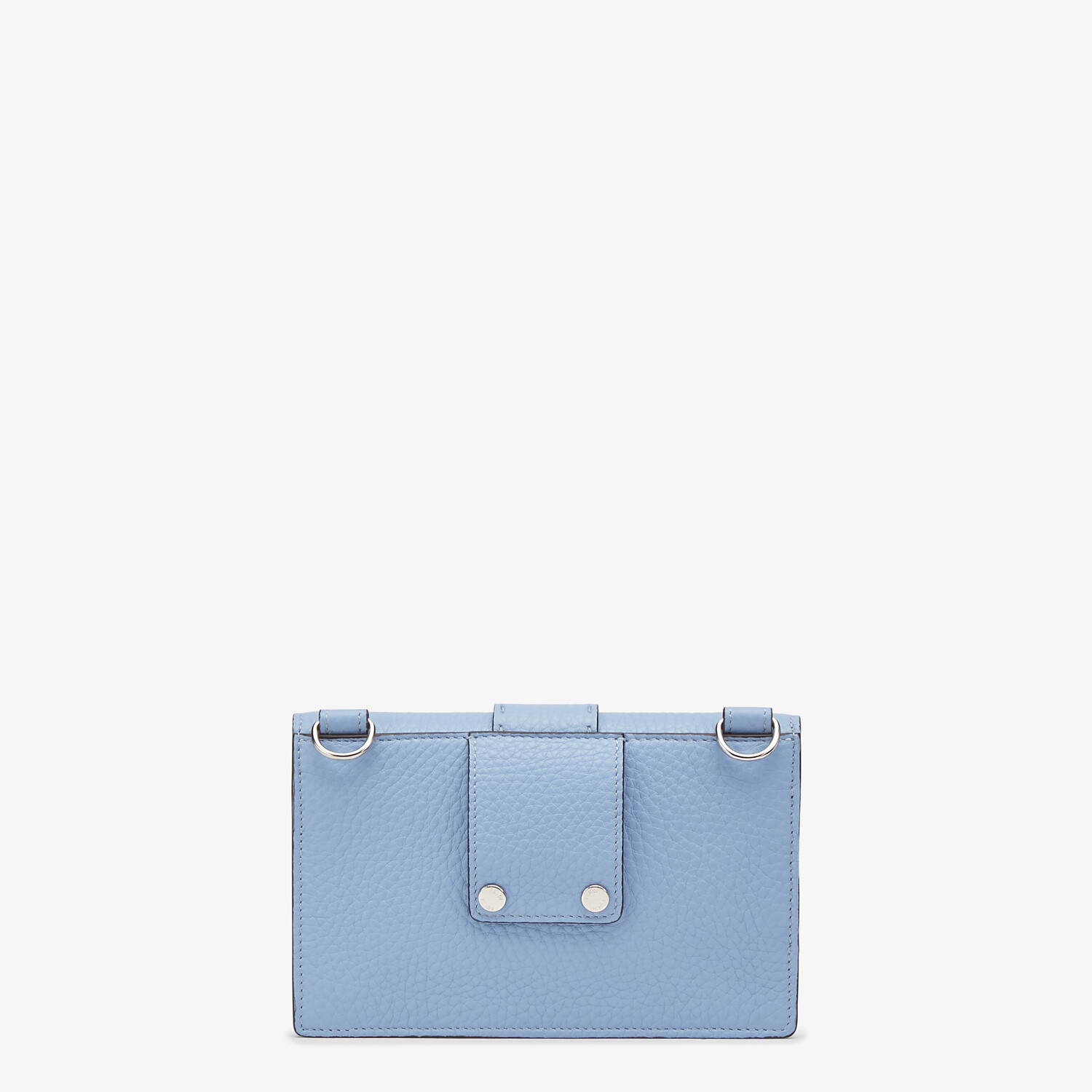 FENDI BAGUETTE POUCH - Light blue leather bag - view 3 detail