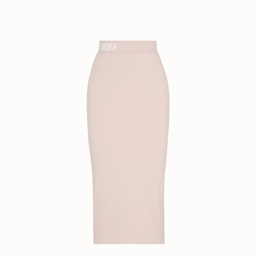 FENDI SKIRT - Pink fabric skirt - view 1 detail