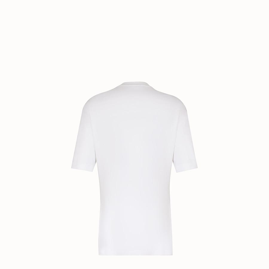 FENDI T-SHIRT - T-shirt en coton blanc - view 2 detail