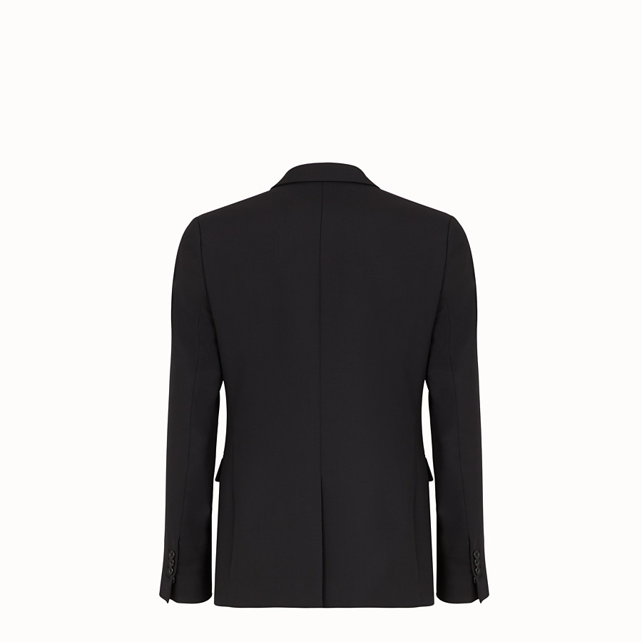 FENDI JACKET - Black wool gabardine blazer - view 2 detail