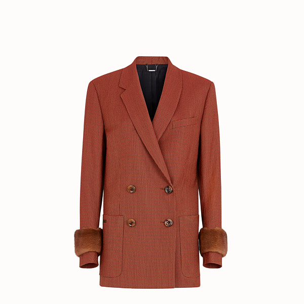 FENDI JACKET - Orange jacquard jacket - view 1 small thumbnail