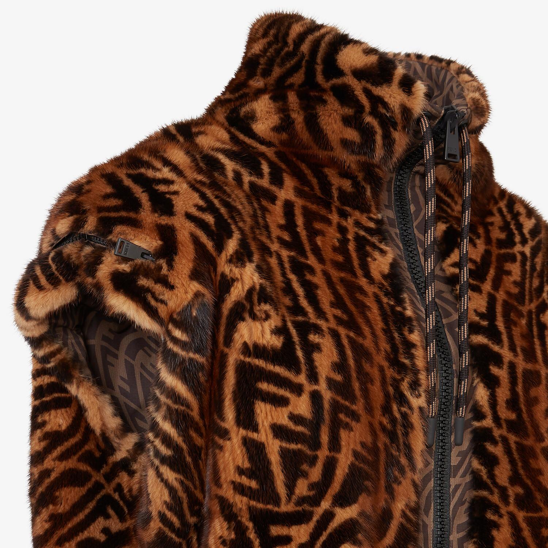 FENDI GILET - Brown mink gilet - view 3 detail