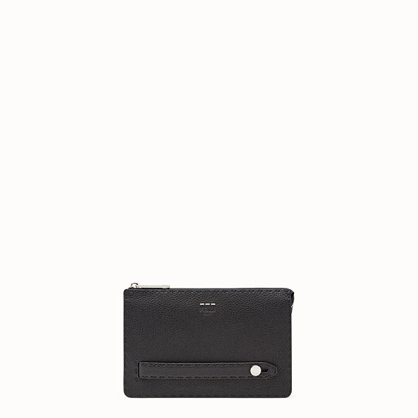 FENDI CLUTCH - Black leather clutch - view 1 small thumbnail