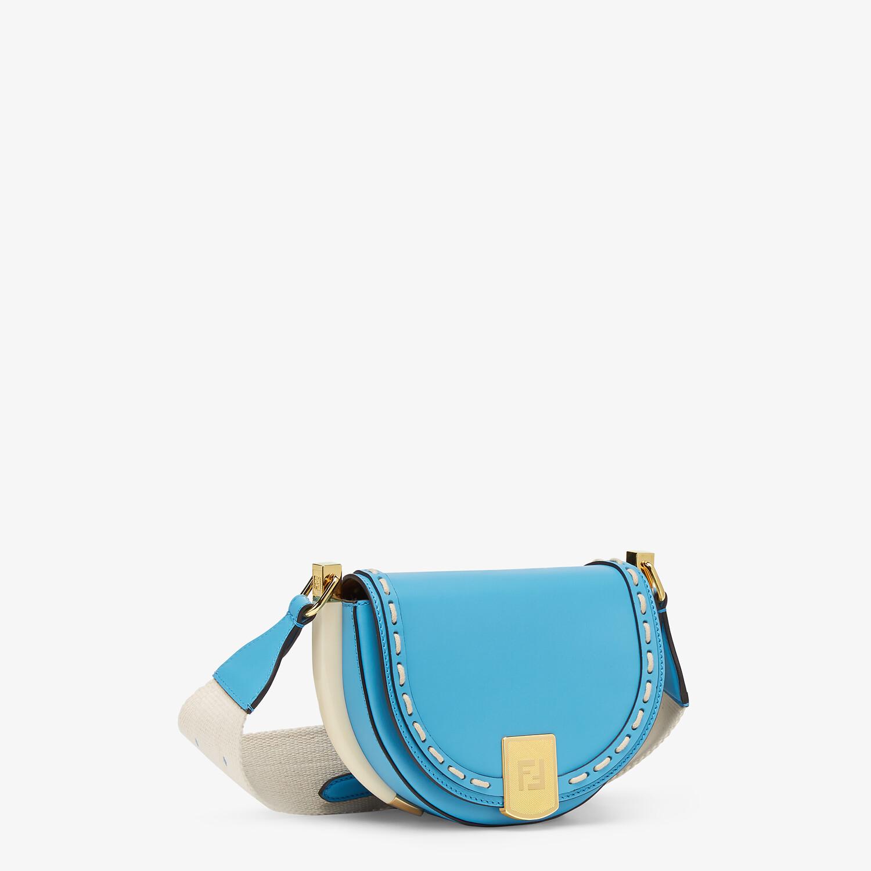 FENDI MOONLIGHT - Blue leather bag - view 3 detail