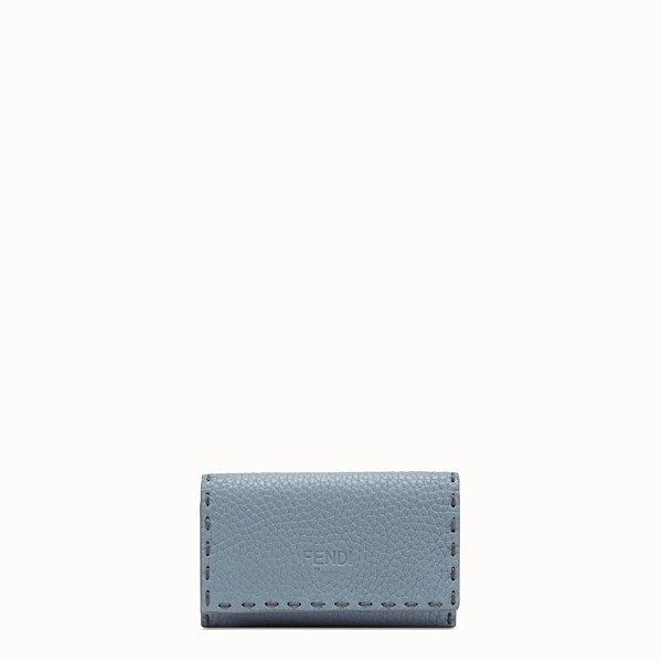FENDI KEY RING - Pale blue leather key ring - view 1 small thumbnail