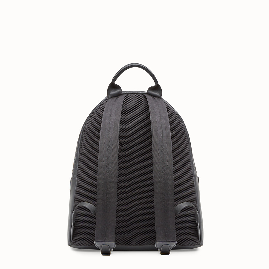 FENDI BACKPACK - Black leather backpack - view 3 detail