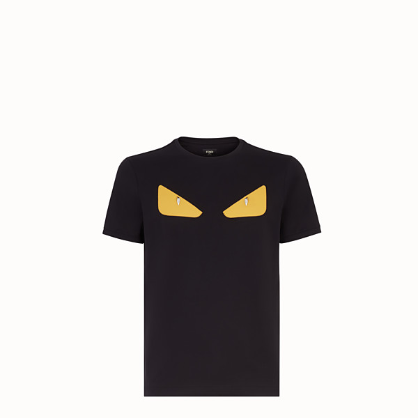FENDI T-SHIRT - T-shirt Bag Bugs en coton noir - view 1 small thumbnail