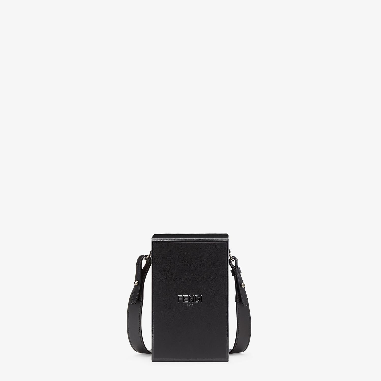 FENDI VERTICAL BOX - Black leather bag - view 1 detail