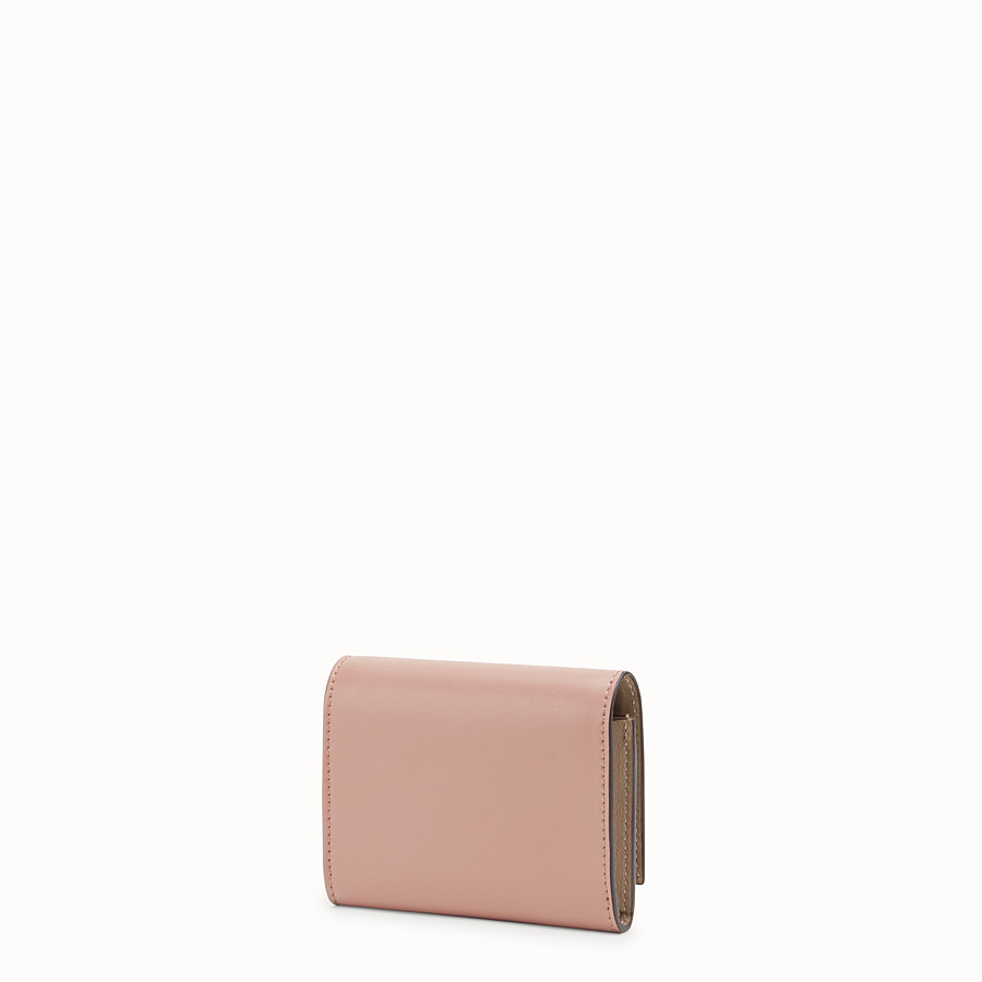 FENDI CARD HOLDER - Pink leather business card holder - view 2 detail