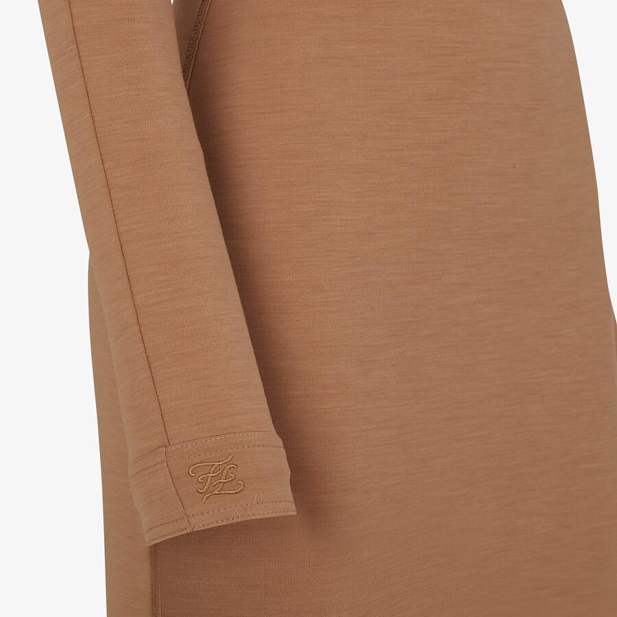 FENDI DRESS - Brown jersey dress - view 3 detail