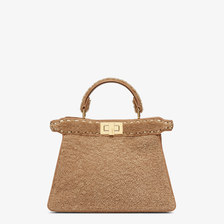 FENDI PEEKABOO ISEEU SMALL - Beige sheepskin bag - view 1 detail